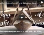 [Video] Sống động những bức tranh từ lá thốt nốt An Giang