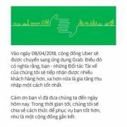 Từ 8/4, tài xế Uber Việt Nam chuyển sang Grab