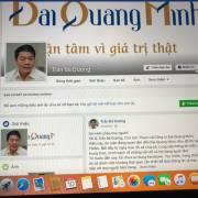 Facebook của ông chủ Đại Quang Minh vừa lập đã bị đánh sập