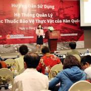 Hỗ trợ kiểm soát dư lượng thuốc BVTV đối với nông sản nhập khẩu vào Hàn Quốc