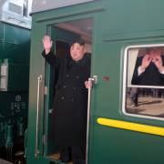 Ông Kim Jong Un đang trên tàu sang Việt Nam
