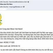 Giả mạo Bộ Công an, mã độc GandCrab 5.2 đang 'tràn' vào Việt Nam