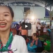 [Video] Ghé thăm gian hàng khoai nướng của Vinamit tại Hội chợ HVNCL TP.HCM 2019