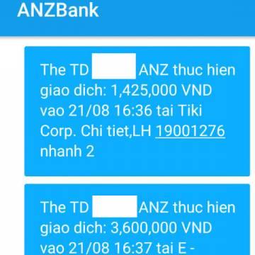 Chủ thẻ ANZ bị 'bốc hơi' hàng chục triệu đồng