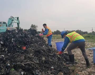 Ít nhất 15.000m3 chất thải đã được đem đến san lấp mặt bằng ở Bình Chánh