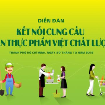 Diễn đàn 'Kết nối cung cầu nông sản thực phẩm Việt chất lượng cao'