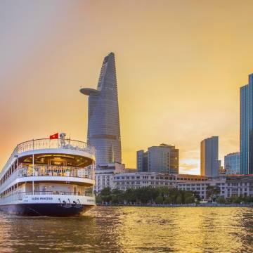 Du thuyền cao cấp của Việt Nam 'chiếm lĩnh' hạ lưu sông Mekong