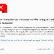 Google cảnh báo người dùng Gmail về các vụ tấn công do các chính phủ 'bảo kê'