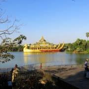 Xuân xanh tràn trề hồ biếc Kandawgyi