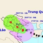 Bão số 1 đi vào Thái Bình-Nam Định và quét qua Hà Nội
