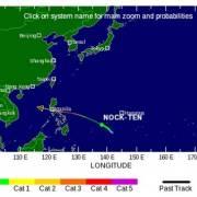 Bão Nock-ten đang hướng vào biển Đông
