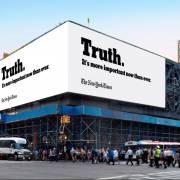 New York Times quảng cáo về 'Sự Thật'