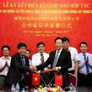 Cục Đường sắt hợp tác với doanh nghiệp Trung Quốc
