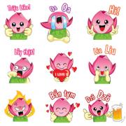 Biểu tượng vui của tỉnh Đồng Tháp lần đầu xuất hiện dưới dạng sticker trên Zalo