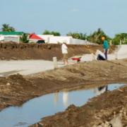 Đường giao thông 150 tỷ đồng ở Cà Mau mới đưa vào sử dụng đã sụt lún