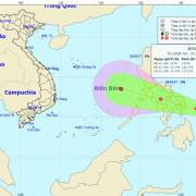 Bão Haikui sẽ đi vào Biển Đông, vùng tâm bão gió giật cấp 12