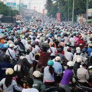 Giao thông tại TP.HCM đối mặt vấn nạn ùn tắc