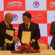 Acecook tài trợ bóng đá Việt Nam với thời hạn 1 năm