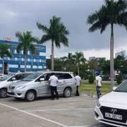 Tài xế taxi ở khu vực sân bay Đà Nẵng đình công phản đối Grab