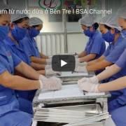 [Video] Ống hút làm từ nước dừa ở Bến Tre