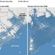 Năm 2050, gần như cả miền Nam ngập dưới nước ở đỉnh triều