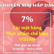 VISSAN giảm giá 8 mặt hàng thực phẩm chế biến chào mừng ngày 8/3