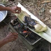Cá nướng bẹ chuối ngon nhưng còn hẻo tiếng