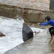 Đề nghị rút giấy phép kinh doanh quán cà phê vứt rác xuống biển