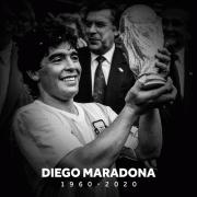 Huyền thoại bóng đá Diego Maradona qua đời ở tuổi 60