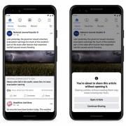Facebook sẽ nhắc người dùng đọc bài trước khi chia sẻ