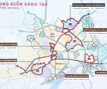 TP.HCM điều chỉnh quy hoạch 3 khu vực ở Khu đô thị sáng tạo phía Đông