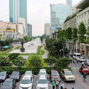 Dựng Vườn Sài Gòn trên phố đi bộ Nguyễn Huệ