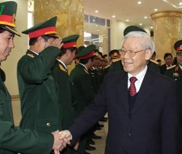 Tổng Bí thư làm việc với Bộ Tư lệnh Thủ đô