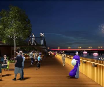 TP Huế tính chi 64 tỷ đồng làm đường đi bộ lát gỗ dọc sông Hương