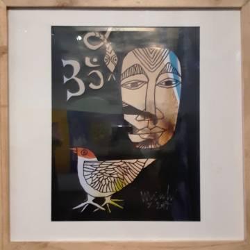 Hoạ sĩ Thân Trọng Minh: chim, rắn, người và… OM
