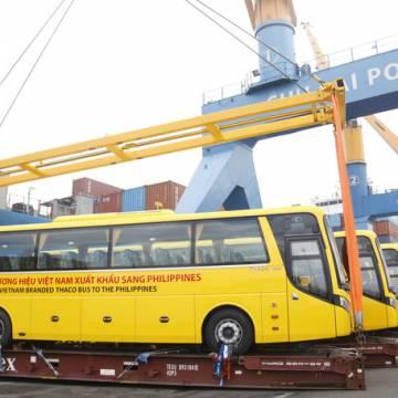 THACO xuất lô hàng xe bus thương hiệu Việt đầu tiên sang Philippines