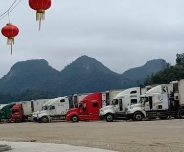 Thông quan cửa khẩu Tân Thanh Lạng Sơn, thanh long lên giá