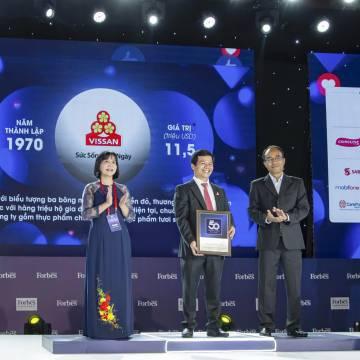 VISSAN lọt top 50 thương hiệu dẫn đầu của Forbes Việt Nam