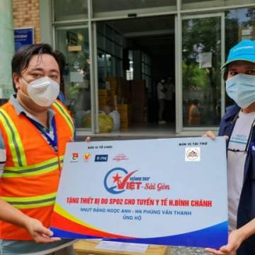 Vòng Tay Việt – Sài Gòn tặng 2105 chiếc máy SP02 cho các Trạm y tế