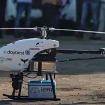 Ấn Độ dùng drone vận chuyển vắc xin để đẩy nhanh tốc độ tiêm chủng